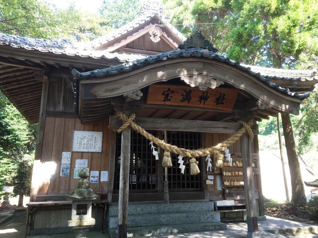 宝くじ当選のご利益で大人気。唐津市宇木の宝満神社。